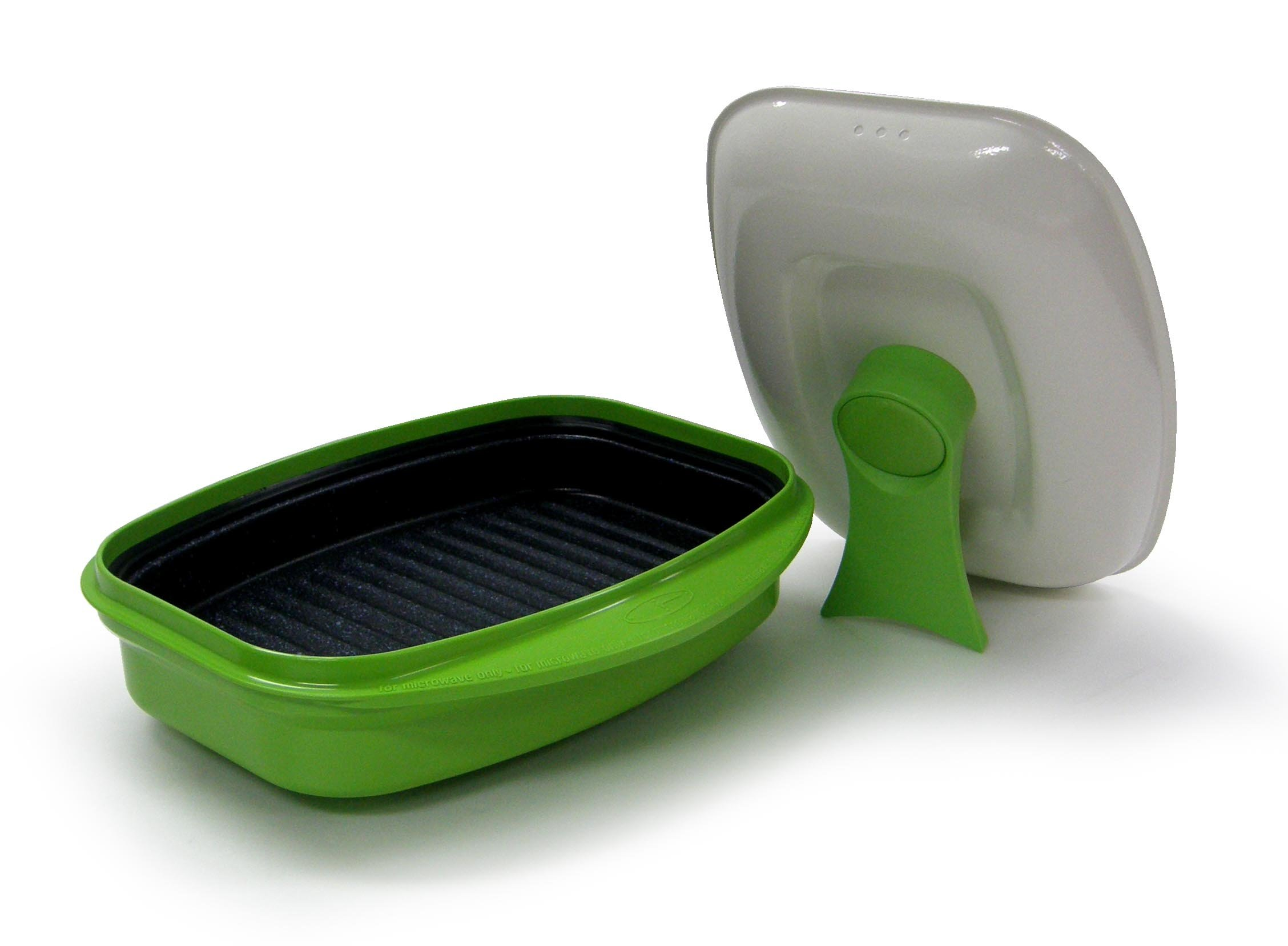 Microhearth 2-piece Grill Pan for Microwave Cooking