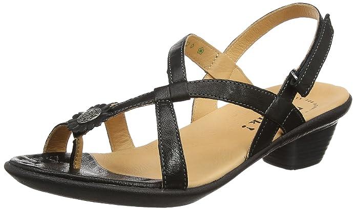 Think Nanet989521 Sandali con Cinturino alla Caviglia Donna Nero