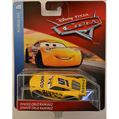 Disney/Pixar Cars Dinoco Cruz Ramirez Florida 500 Series 1:55 Scale Collectible Die Cast Model Car: Toys & Games