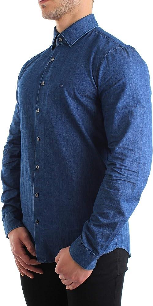 Calvin Klein - Camisa de hombre Art K10K104135 400 Color Foto Medida a elegir Foto 35: Amazon.es: Ropa y accesorios