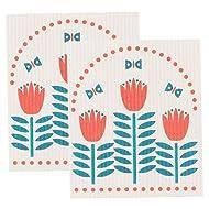 Now Designs Swedish Dishcloth, Set of Two, Tulipa