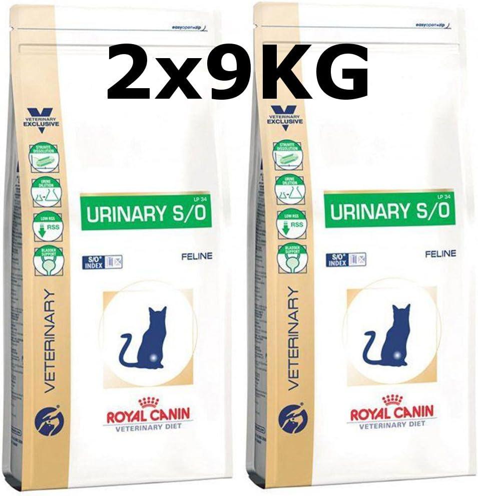 Royal CANIN urinary S/o Cat LP 34 gato trockenfutter 2 x 9 kg=18 kg: Amazon.es: Productos para mascotas