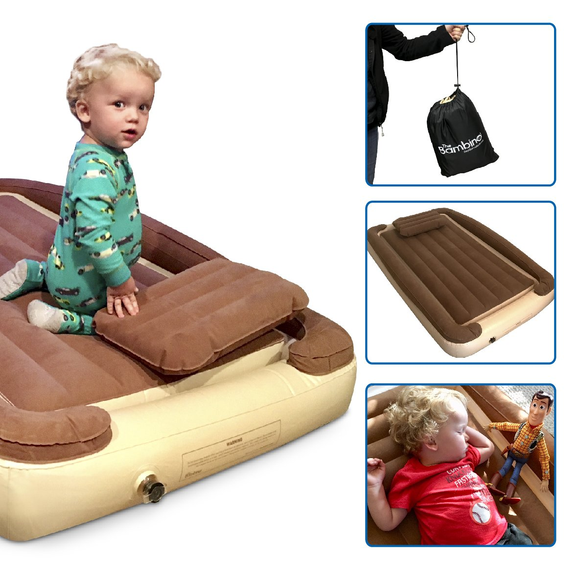 EasyGoProducts Let Your Kids Be Cozy and Safe with Our Inflatable Travel Whether This Bambino Used At Home As a Toddler Portable Bed When Growing Out of a Rails EGP-BMB-001