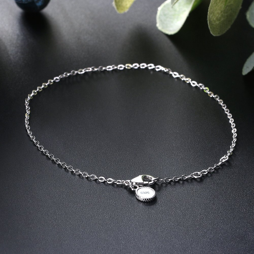 Ginger Lyne Collection Sterling Silver 1mm Rolo Chain Charm Bracelet
