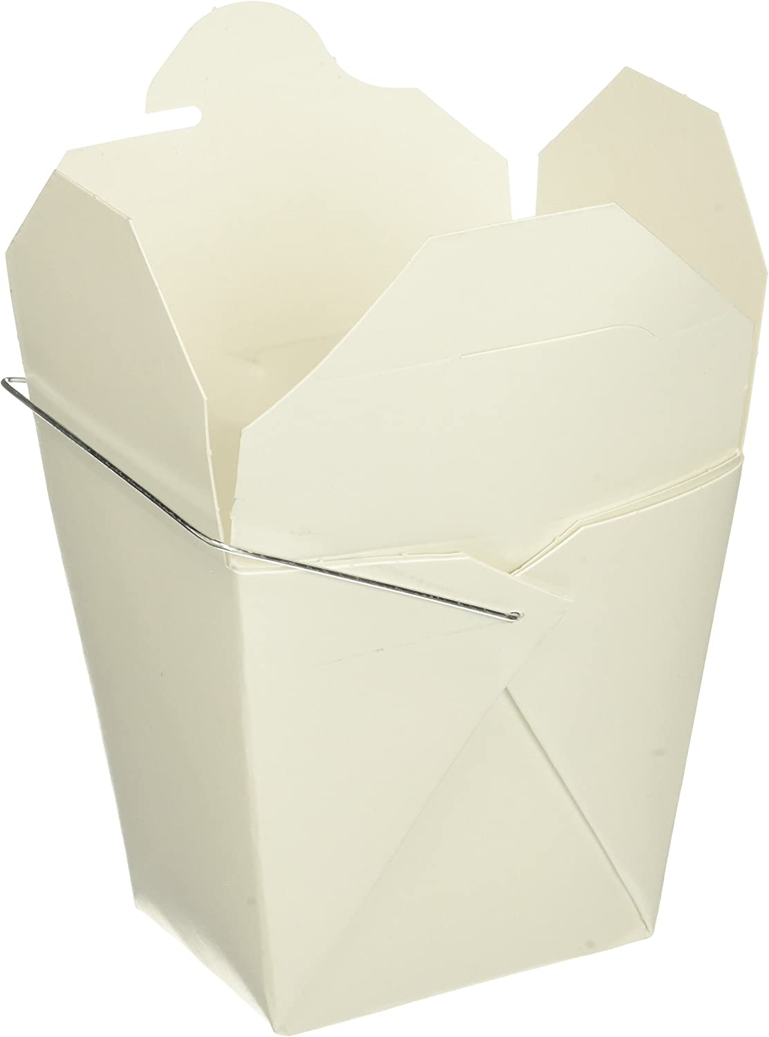 W.Y. INDUSTRIES INC. 16 oz. Chinese Take Out Food Boxes, Lot of 50, White