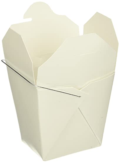 9032a4ec12 WY INDUSTRIES INC. B0050PPCE4 16 oz. Chinese Take Out Food Boxes, Lot of  50, White