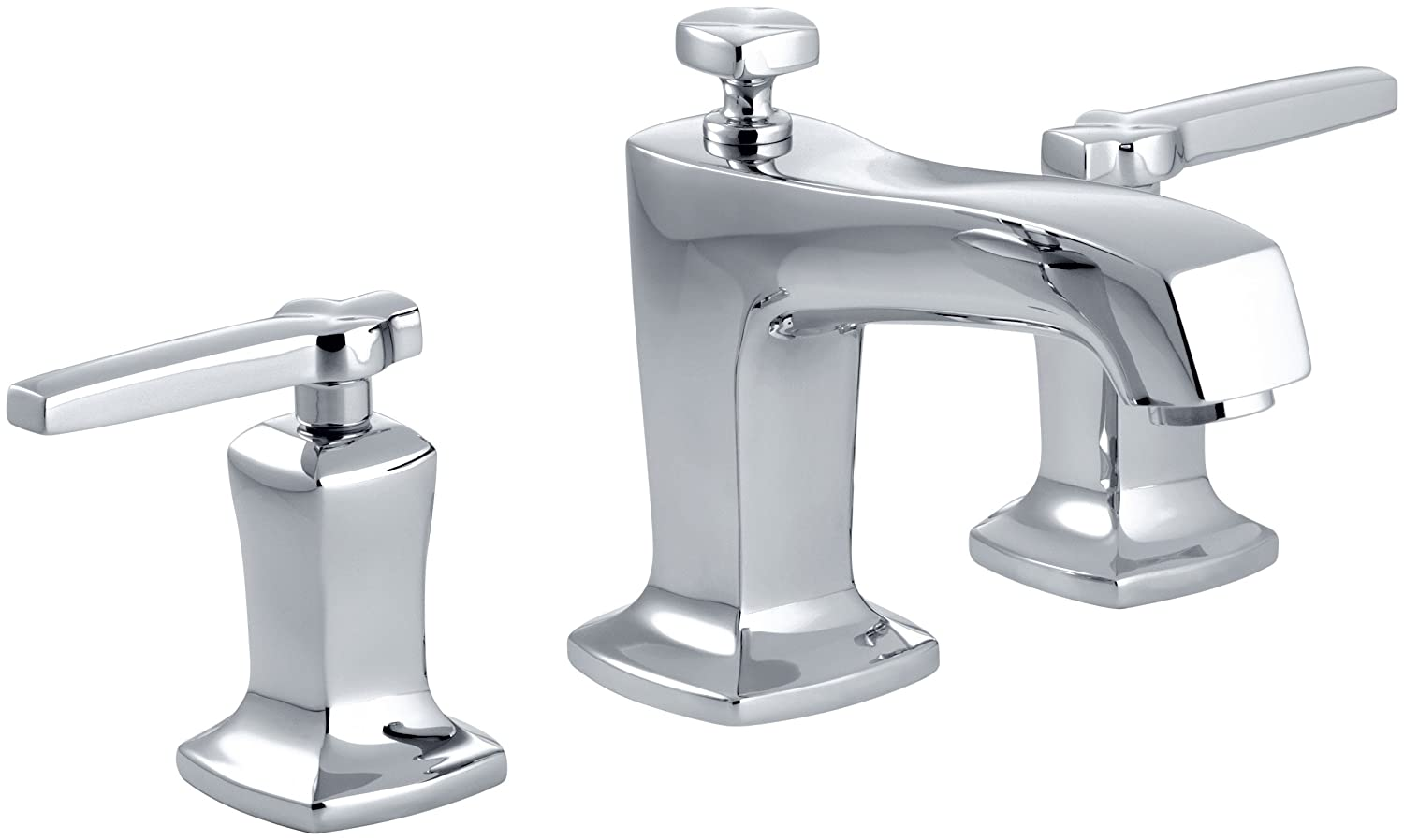 Kohler K 16232 4 Cp Margaux Widespread Lavatory Faucet Polished Chrome Touch On Bathroom Sink Faucets Amazon Com