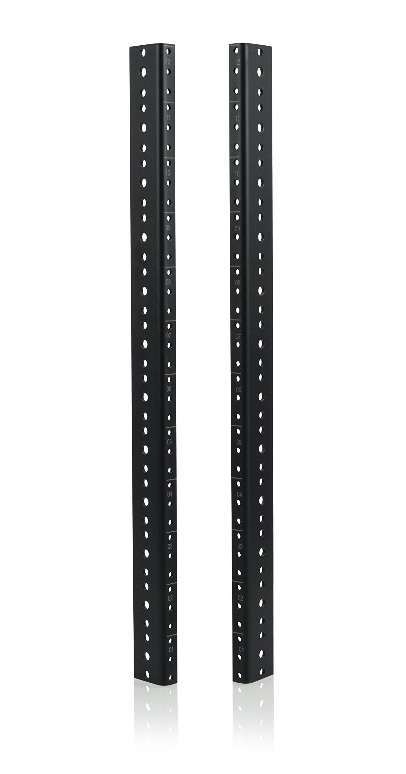 Gator Rackworks Heavy Duty Steel Rack Rail Set; 12U Rack Size (GRW-RACKRAIL-12U)