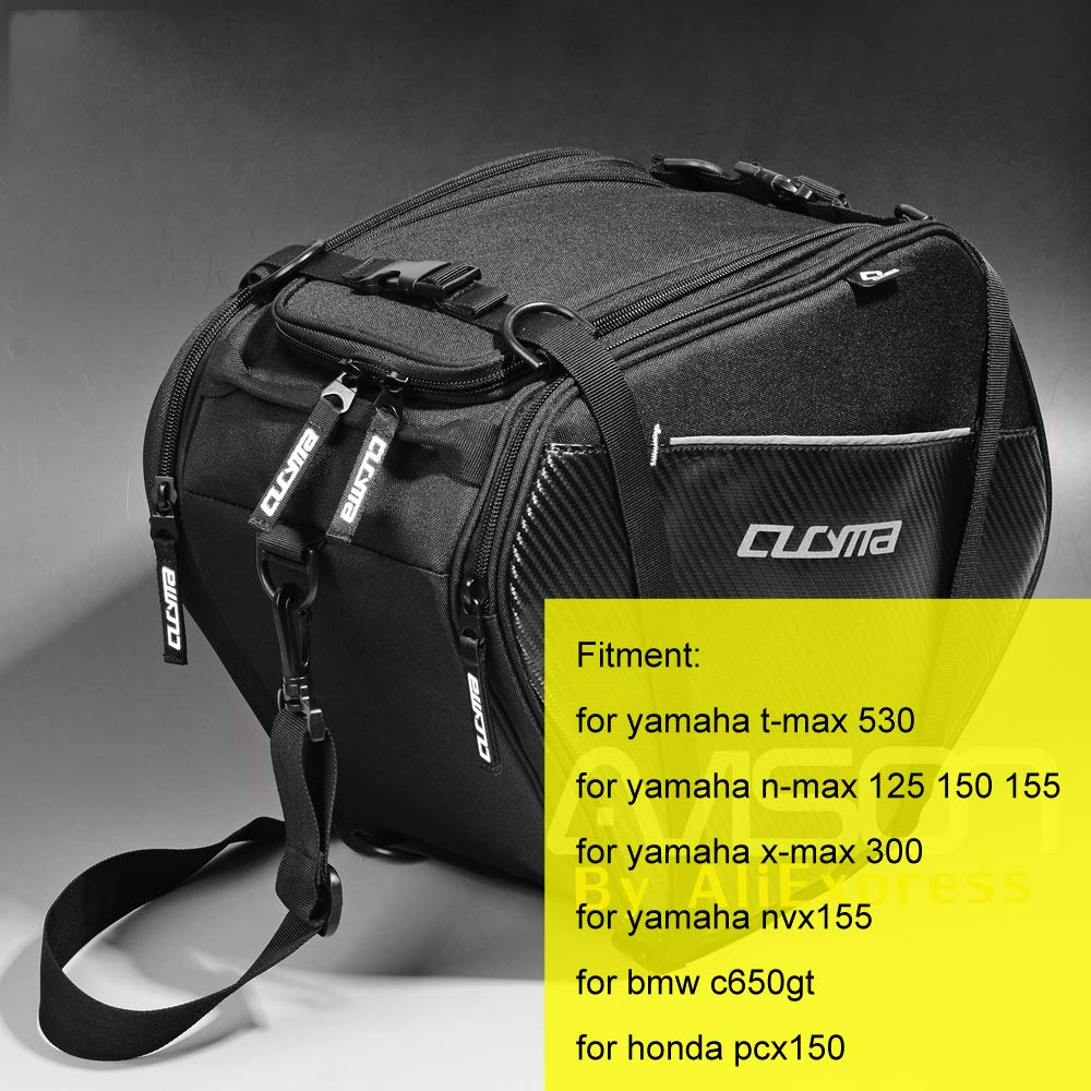 Amazon.com | Scooter Tunnel Bag for TMAX 530 NMAX 125 150 155 XMAX 300 NVX155 C650GT PCX150 Tank Bag Waterproof Store Content Bag Travelling | Casual ...