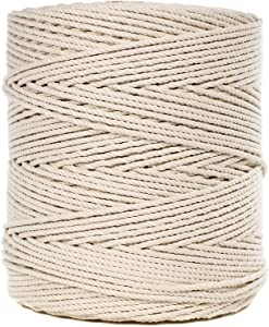 100% Twisted White Natural Cotton Rope – Crafting, Decorations (3/16 Inch x 100 Feet)