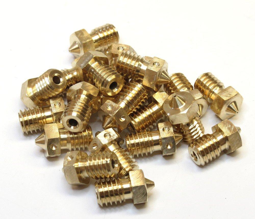 V6-NOZZLE-175-350 Genuine E3D Brass V6 Nozzle 1.75mm x 0.35mm