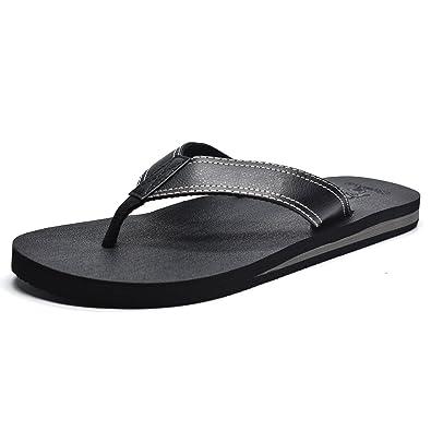 ba4594b2e COFACE Men s Yoga Mat Flip Flops Thong Sandals with Arch Support (6 UK