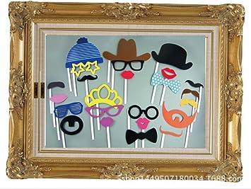 CHSYOO 25 Photobooth, apoyos de fotomatón Bigote Bowknot Labios Tiene favores de Fiesta para el cumpleaños de la Boda Baby Shower Bautismo de Navidad ...