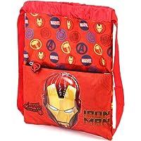 Karactermania Iron Man Armour-Strap Drawstring Bag Drawstring Bag, 41 cm, Red