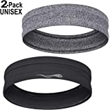 LUCKYGO Sweatbands for Women Men│Super Absorbent Sweat Bands Headbands with Nonslip Grip│Stretchy Soft Athletic Head Bands for Workout Sports Fitness Exercise Tennis Basketball Running Gym Yoga Dance