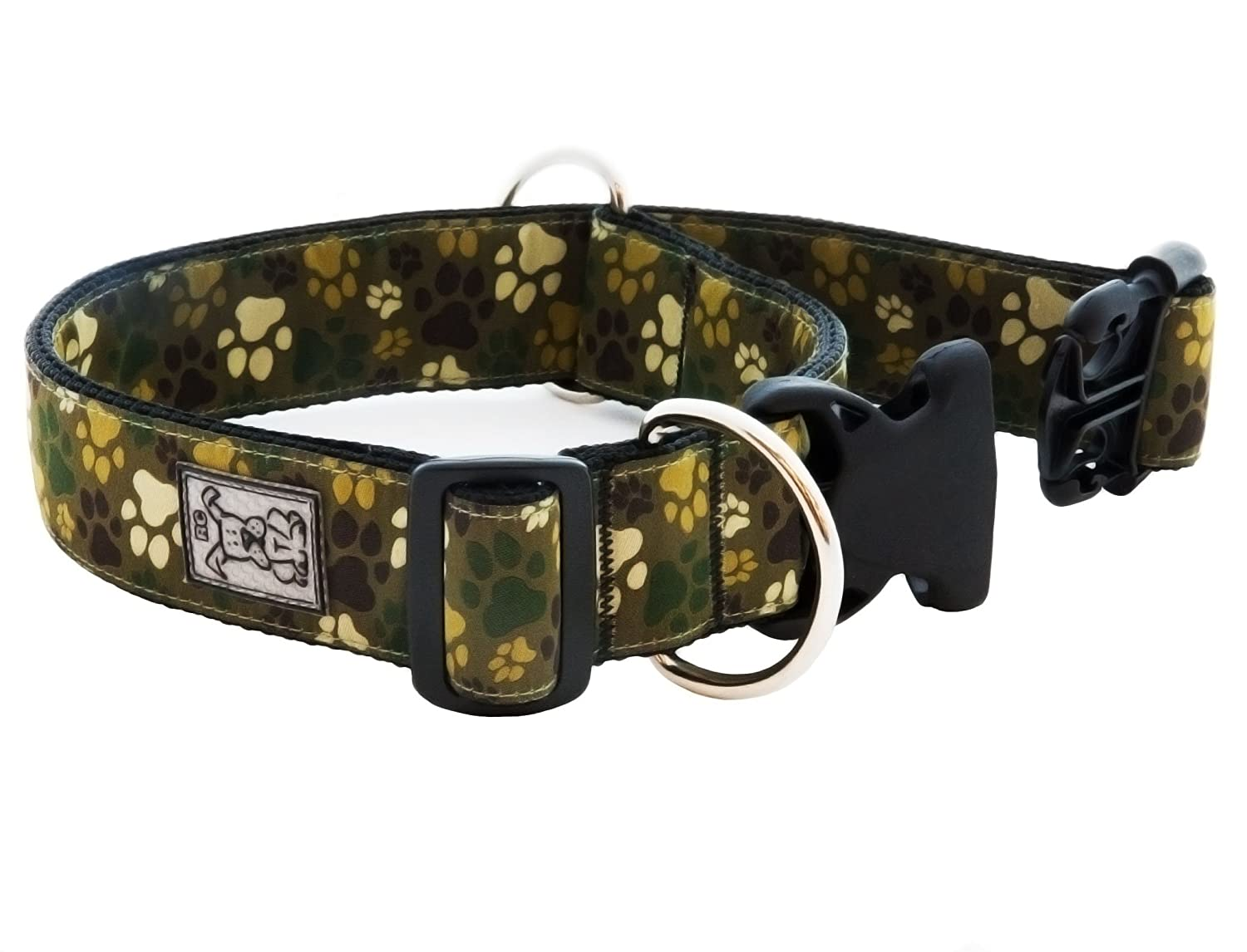 RC Pet Products 1-1 2-Inch Dog Safety Clip Collar, X-Large, Pitter Patter Camo