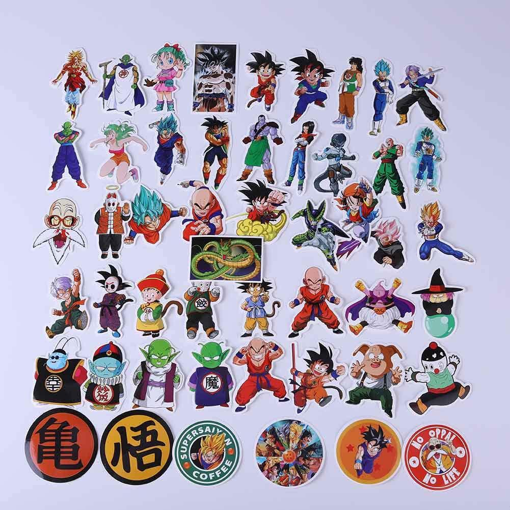ALTcompluser Dragon Ball Lot de 50 autocollants en vinyle pour ordinateur portable Skateboard Snowboard bagage voiture pare-chocs #1