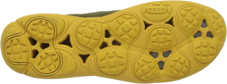 Geox U Nebula B, Baskets Basses Homme Vert Musk Yellowcb32v