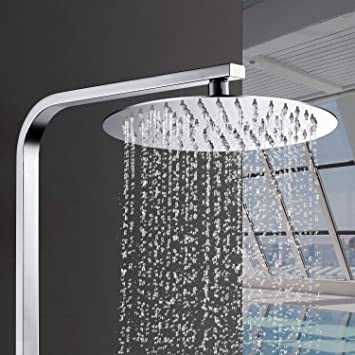 Columna de ducha sin grifo, ducha de lluvia, grifo de ducha ...