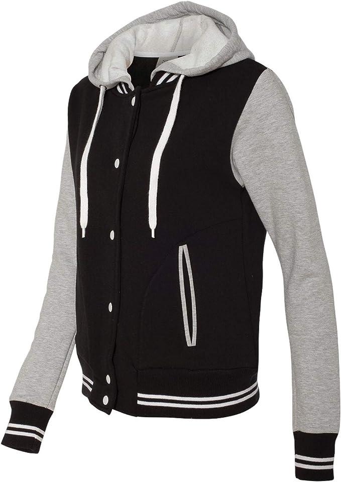 New Mens Bomber Jacket Sweatshirt Modern Fit Contrast Zip Varisty Style JH048