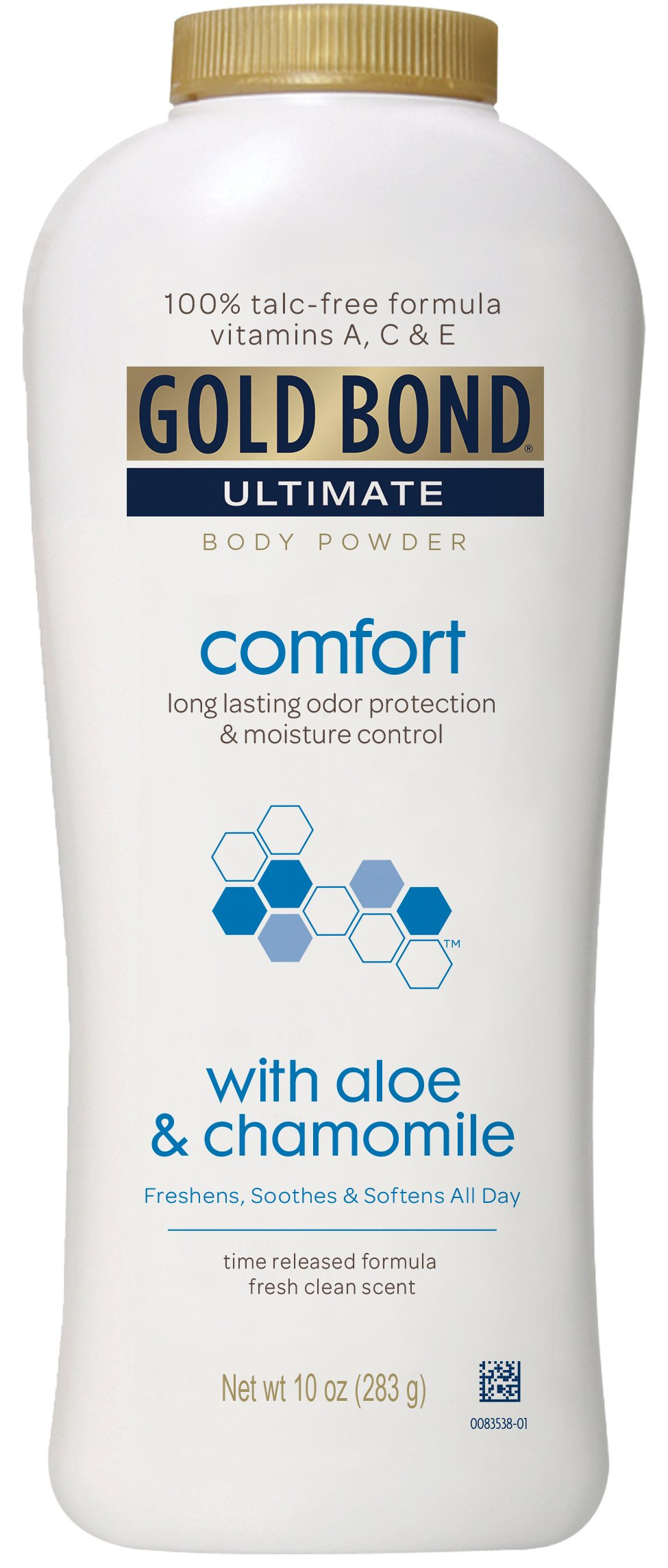 Gold Bond Ultimate Comfort Body Powder Aloe, White Fresh, 10 Ounce