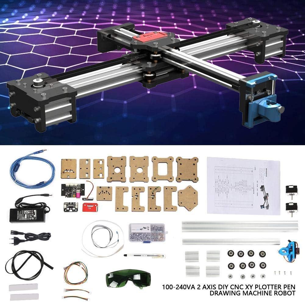 Akozon - Máquina de dibujar 100 – 240 VA, 2 ejes, DIY CNC XY, máquina de dibujo, robots, rango de procesamiento, 320 x 266 mm, escritura a mano, robot (enchufe europeo): Amazon.es: Hogar