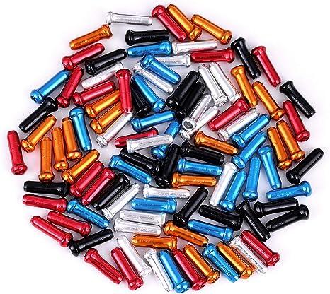 Juland 100 PCS Tapas de Cable de Freno de Bicicleta Enganches de ...
