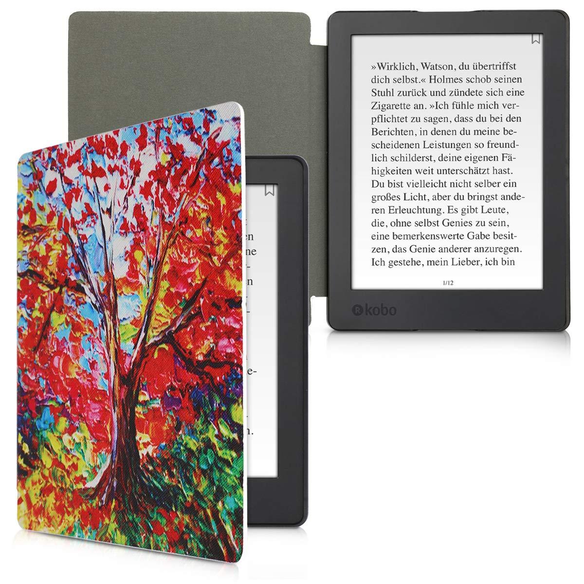 - Case con dise/ño de mapamundi Vintage Carcasa para e-Reader de kwmobile Funda para Kobo Aura H2O Edition 2 Cuero sint/ético