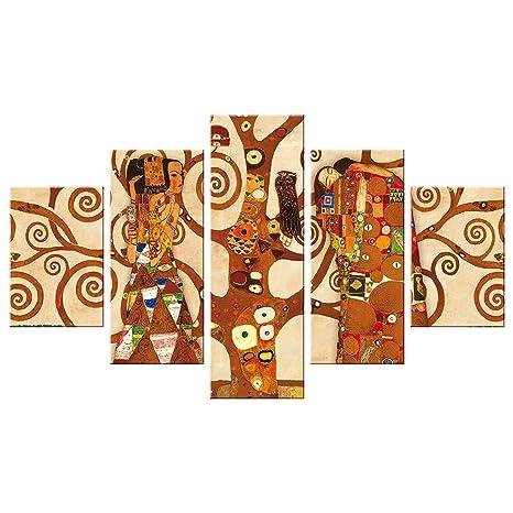 Vetrineinrete® Quadri moderni verticali 5 pezzi componibili quadro ...