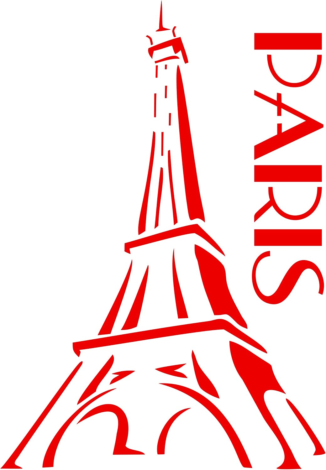 Paris Stencil, 8 x 11.5 inch (L) - Eiffel Tower French Decor Stencils for Painting Template