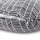 Minky Nursing Pillow Cover | Herringbone Pattern