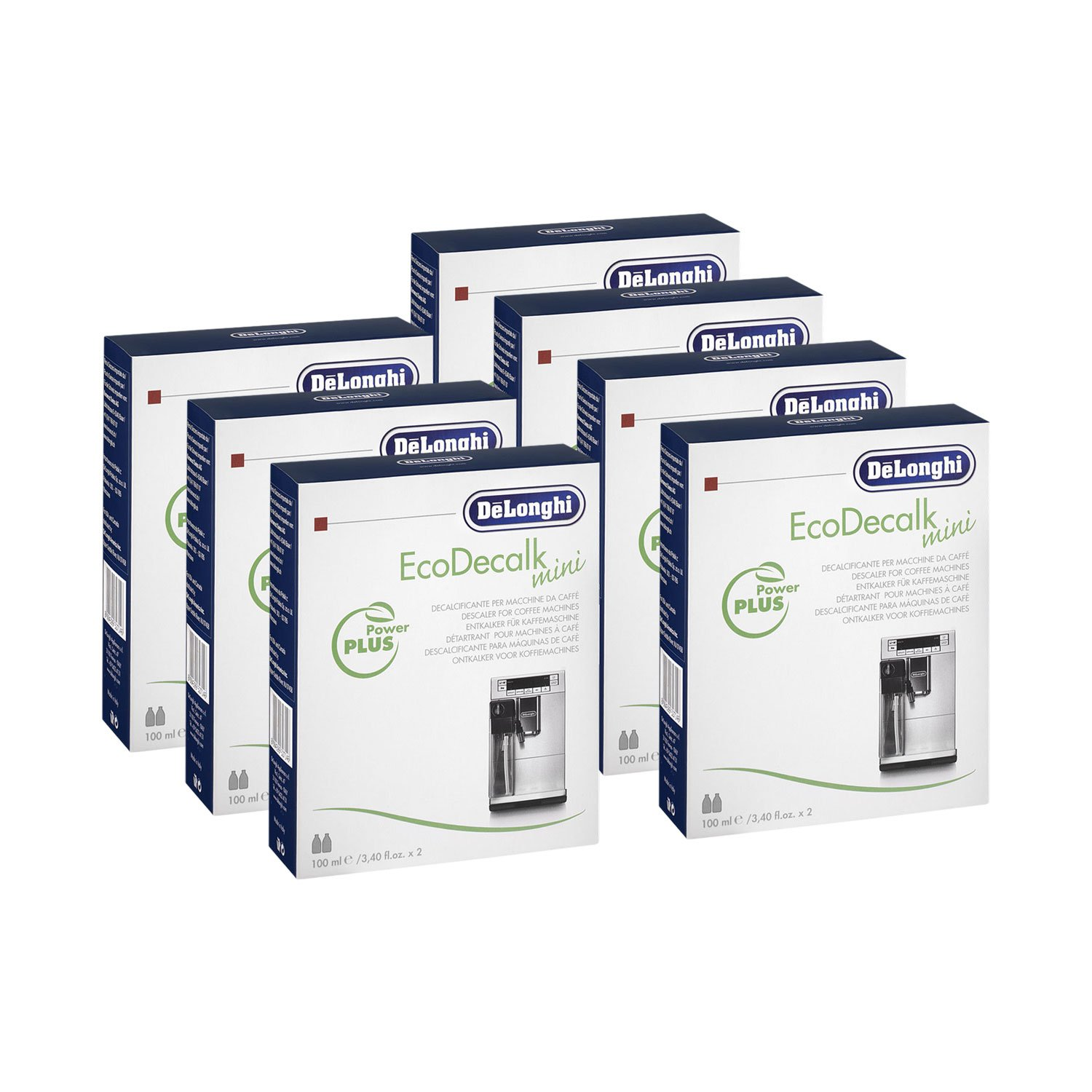 7 x DeLonghi EcoDecalk descalcificador Mini (de 2 x 100 ml ...
