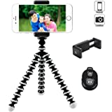 FLFLK iPhone Tripod Flexible Octopus Camera Phone Tripod for iPhone Smartphone Digital Camera with Universal Clip and Remote