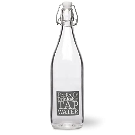 Tremendous Ckb Ltd French Style Table Glass Water Bottle 1 Litre With Slogan Reusable And Refillable Great For Dinner Parties Ideal For Drinking Water Cordial Interior Design Ideas Inesswwsoteloinfo