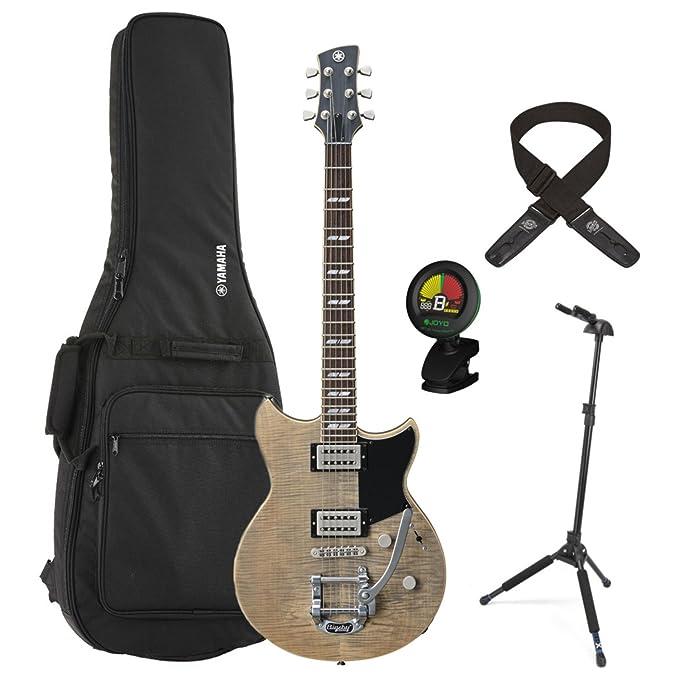 Yamaha rs720b agr gris ceniza revstar guitarra eléctrica w/funda bolsa, soporte, sintonizador, y correa de bloqueo de bloqueo: Amazon.es: Instrumentos ...