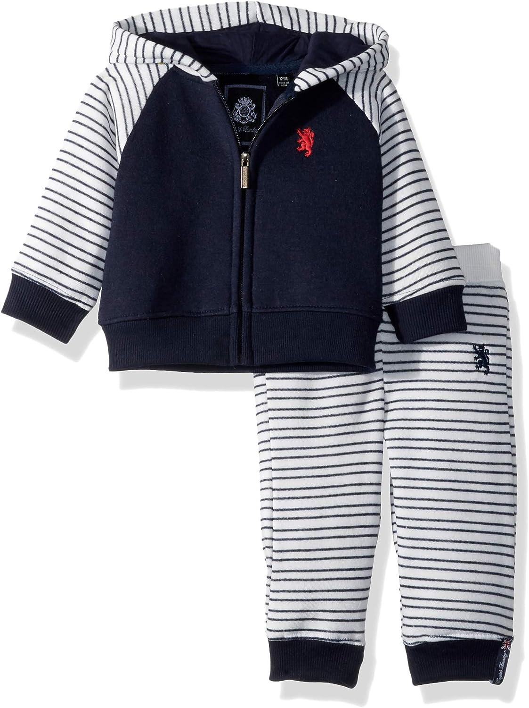 English Laundry Baby Boys Striped Jog Set