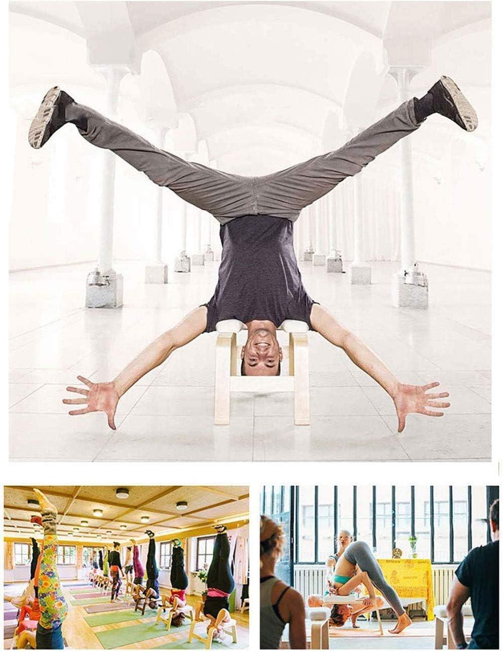 Yoga Postura sobre la cabeza del banco Inversion parada de cabeza Presidente Inversion Banco de yoga Ayudas Entrenamiento asiento banco parada de cabeza de heces Deportes Ejercicio Fitness Equipment