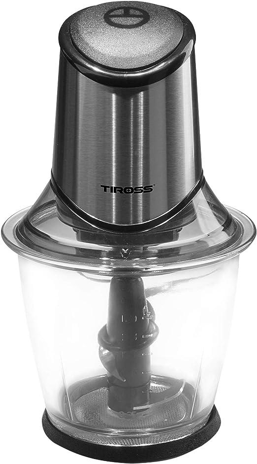 Trituradora TIROSS TS1374 400W, tazón de vidrio de 1.5 l, cuchillo ...
