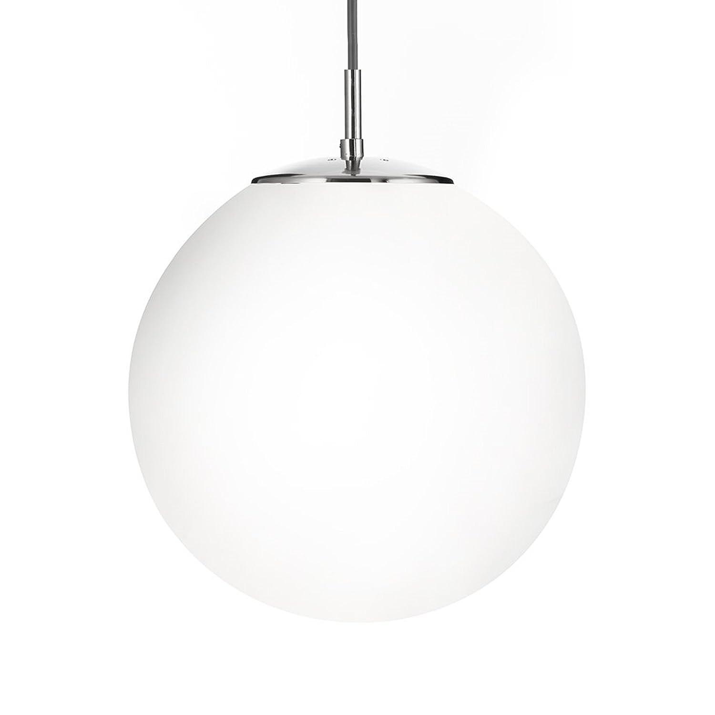 Modern large white opal glass glo ball globe pendant ceiling light fitting led compatible