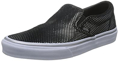 vans damen slip on black