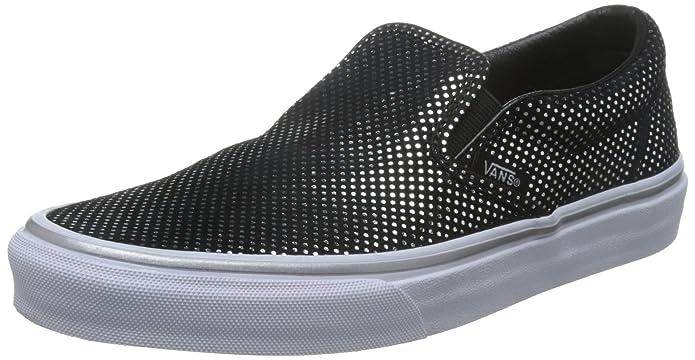 Vans Classic Slip-On Sneakers Damen Schwarz mit Metallpunkten