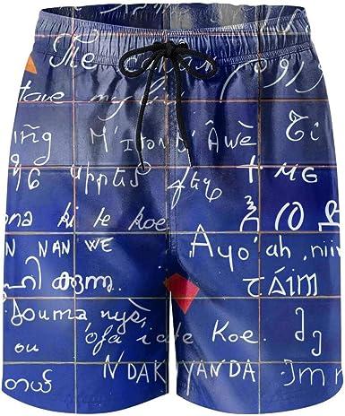 Mens Math Formula Shorts Lightweight Swim Trunks Beach Shorts,Boardshort