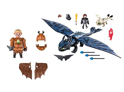 Amazon.com: Playmobil Fishlegs with Flight Suit and Hiccup ...