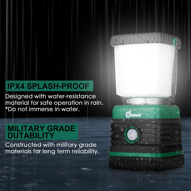 Odoland Ultra Bright 1000 Lumen Camping Lantern with Brightness Adjustment, Battery Powered LED Lantern of 4 Light Modes, Best for Camping, Hiking, Fishing & Emergency by Odoland (Image #5)