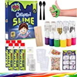 Slime R Fun Glitter & Glow Slime Kit | Deluxe Ultimate Slime Kit for Girls and Boys | DIY Slime Making Kit Supplies Stuff for Unicorn Floam Cloud Styles Science and Art Play with Water Cleanup