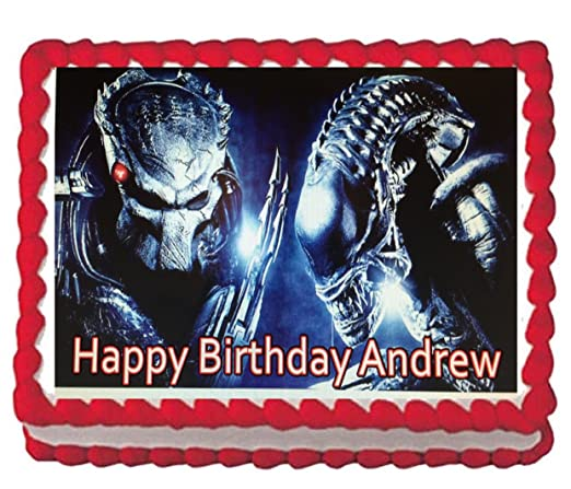 Alien Vs. Predator - Decoración comestible para tartas ...