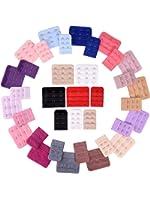 eBoot 36 Pieces Women's Bra Extenders Brassiere Extension Hooks, 2 Hooks and 3 Hooks, 18 Colors
