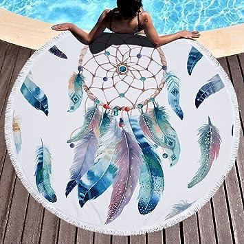 LIUNIAN Dreamcatcher Toalla de Playa Microfibra Toallas de Playa Redondas Grandes 150 cm x 150 cm 59 Pulgadas para Mujeres Niños Niñas niños: Amazon.es: ...