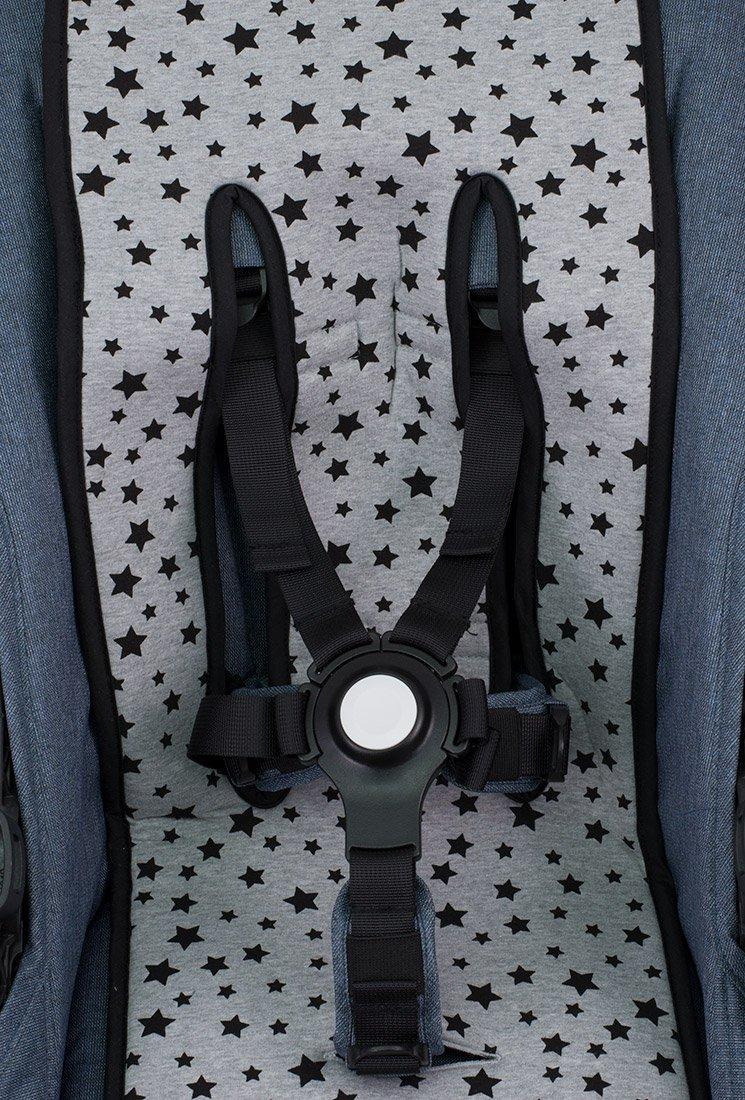 JANABEBE Sitzauflage f/ür Zwillingskinderwagen Black Series
