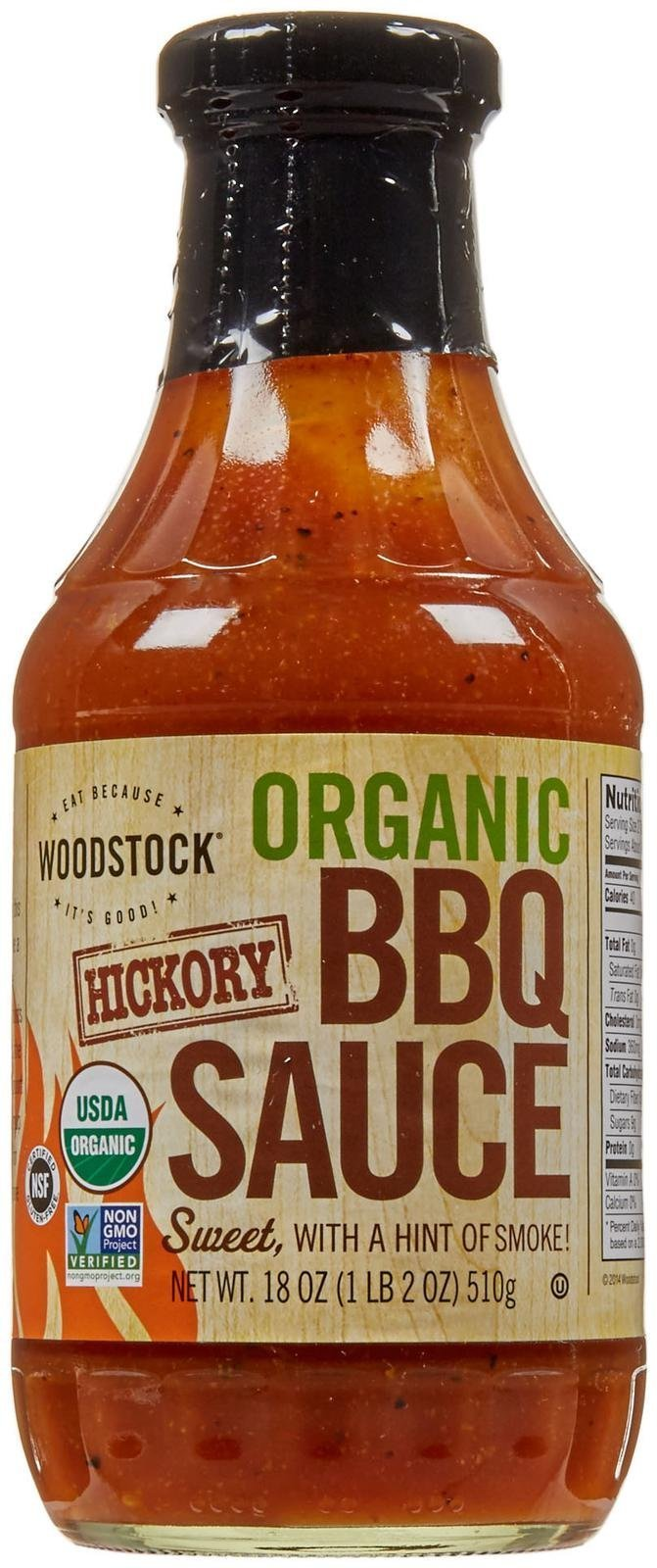 Woodstock Farms Organic Barbecue Sauce - Hickory - 18 Ounces
